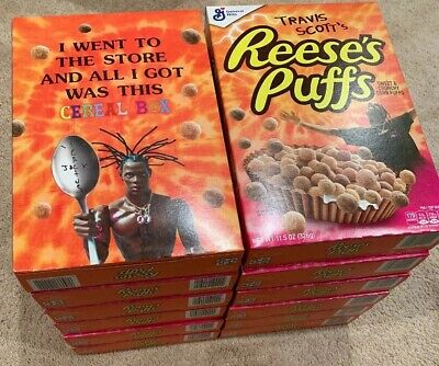 12 Travis Scott Reese's Puffs Cereal NEW SEALED Rare Limited Edition