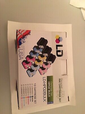 Hp 02 Ink  Color Ink Cartridge for HP Printer -Sealed - LD Recycled Lot of 9