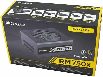 Corsair RM750x 750W 80 Plus Gold Fully Modular Desktop ATX Power Supply Unit PSU