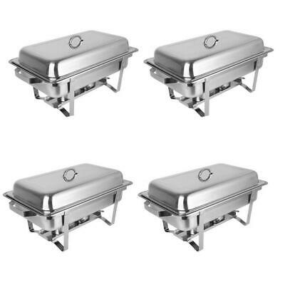 Pack Of 4 Chafing Dish Sets Food Warmers 9L Pans With Water Pans Free Shipping