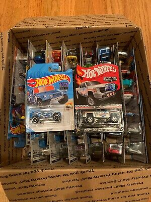2019 HOT WHEELS CHEVY SILVERADO OFF ROAD MAIL IN. 50 Cars Total. Thunt Included