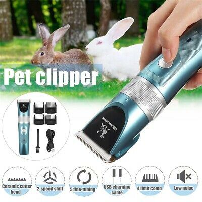 Electric Mute Pet Clipper Dog Cat Hair Cordless Trimmer Comb Grooming Clipper AU