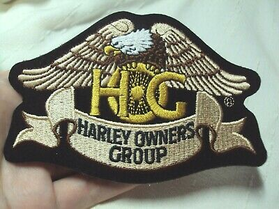 New large Eagle logo HOG members Harley Davidson Motorcycle patch owners group