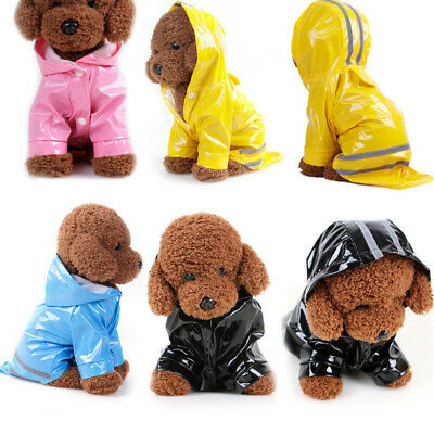 Pet Dog Puppy Cat Rain Coat Waterproof Clothes Rainwear Reflective Jacket