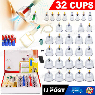 Cupping Set Jars Therapy Acupoint Acupuncture Suction Vacuum Massage Kit
