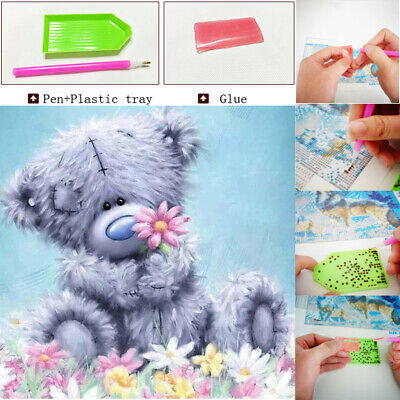 5D Diamond Painting Embroidery Cross Craft Stitch Pictures Arts Kits Bear Decor