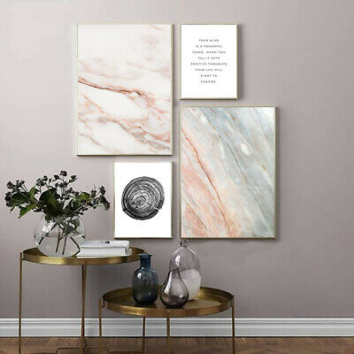Modern Art Marble Texture Abstract Poster Canvas Art Print Home Wall Decoration