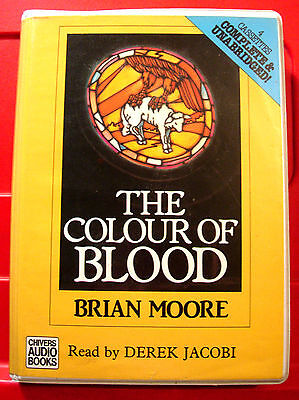 Brian Moore The Colour Of Blood 4-Tape UNA.Audio Derek Jacobi Political Thriller