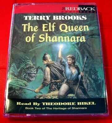 Terry Brooks The Elf Queen Of Shannara 2-Tape Audio Book Theodore Bikel Fantasy