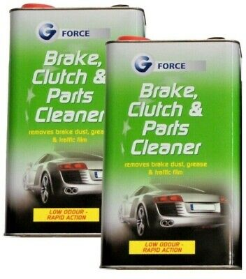 2x G Force - Brake, Clutch & Parts Cleaner Removes Oil, Grease, Film & Dust - 5L