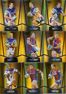 2015 NRL Elite GOLD PS Set of 9 Card Team Set - Newcastle Knights - NEW