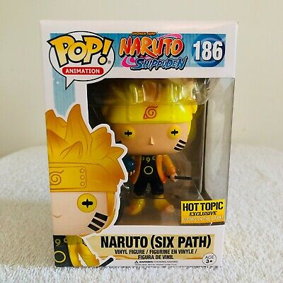 Funko POP! Naruto (Six Path) #186 Glow In The Dark Hot Topic with GITD Protector