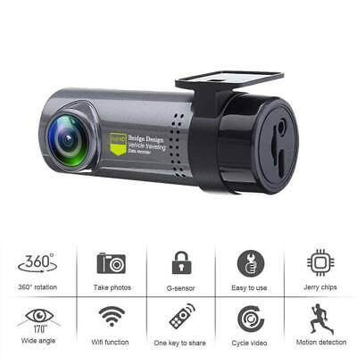 1080P HD FHD Car DVR Recorder Camera Dash Cam Front Video Wireless WIFI G-Sensor