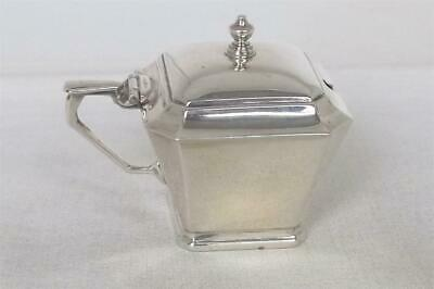 A Stunning Solid Sterling Silver Art Deco Mustard Pot With Liner Birmingham 1934