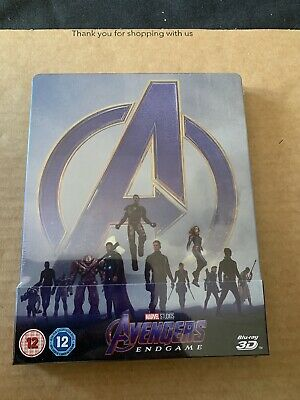 Avengers Endgame (2019) Blu Ray Steelbook 3D & 2D Marvel NEW & SEALED