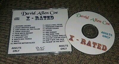 David Allan Coe X Rated CD Adults only OUTLAW COUNTRY made on his own label
