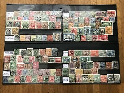 British Colonies Barbados Guiana Jamaica Hawaii Old Stamps Collection 4 Pages !!