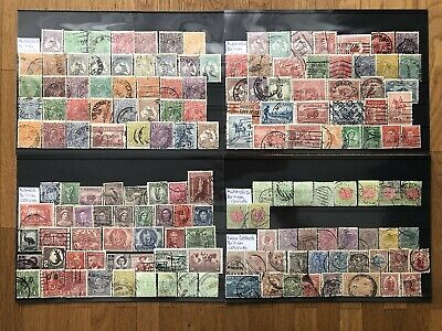 British Colonies Australia New Zealand Old Stamps Collection 4 Pages !!