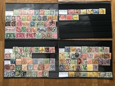 British Colonies New Zealand Western Australia Old Stamps Collection 4 Pages !!