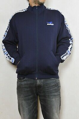 Diadora Vintage 90s Casuals Tracksuit Top Jacket Dark Blue M Jumper Top