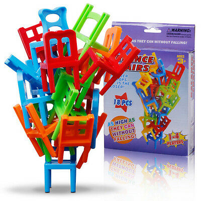 Balance Chairs Game Stacking Puzzle Toys kids Educational Desktop games  ZPHWC