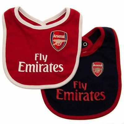 Arsenal FC 2 Pack Official Football Kit Baby Bibs