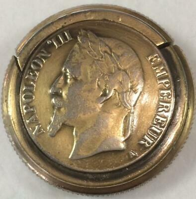Napoleon III Coin Shaped Matchsafe/Vesta/Pill Box circa1870 no monogram French?