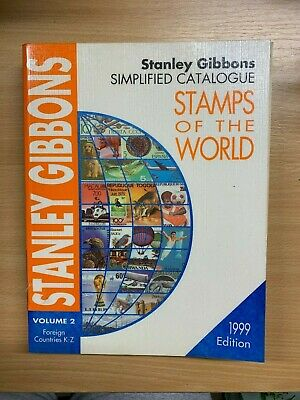 """Stanley Gibbons Catalogue """"Stamps Of The World 1999"""" Vol 2 Heavy Paperback Book"""