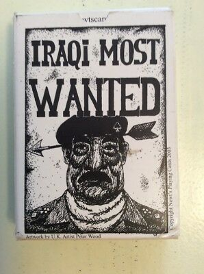 52 Iraqi Most Wanted Playing Cards Iraq War Saddam Hussein EXCELLENT CONDITION