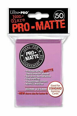 50 Deck Protector Sleeves Ultra Pro Magic PRO MATTE PINK Rosa Bustine Protettive