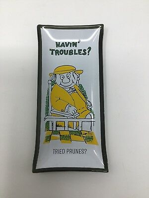 "Vintage ""Havin' Troubles?"" Novelty Ashtray/ Coin Dish"