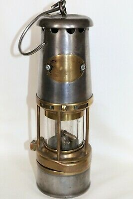 Antique Brass & Steel Miners Oil Lamp - The Wolf Safety Lamp Co.