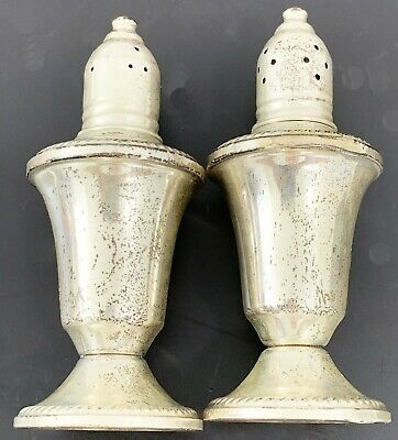 Vintage Pair of Sterling Silver Salt and Pepper Shakers Duchin Creation Weighted