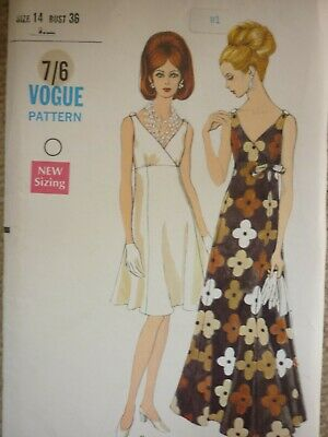 Uncut Vintage 1960'S Vogue Evening Cocktail Dresses Sewing Dressmaking Pattern