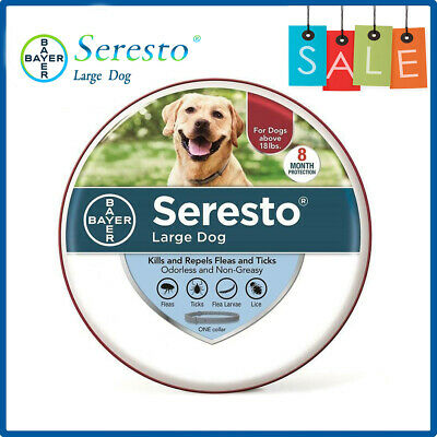 Bayer Seresto Flea and Tick Collar for Large Dog over 18 lb Authentic Protection