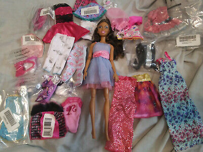 Lot of Barbie African Amer. POSING Doll + clothing,New,not in Package, free ship