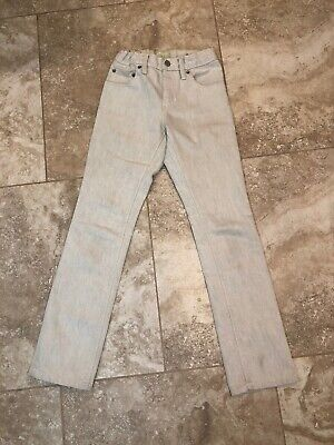 Gap Boys 10 Slim Straight Leg White Wash Adjustable Waist Jeans