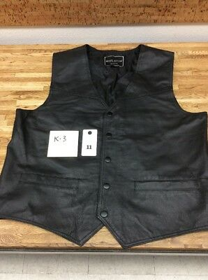 Rebel Ryder Leather Motorcycle Vest Size Medium New K-3