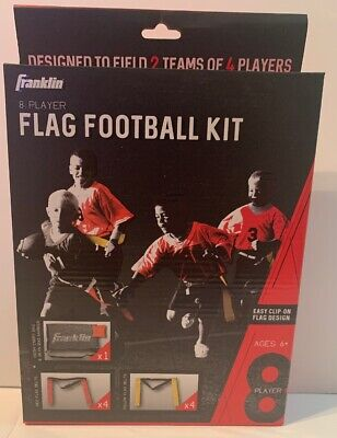 Franklin 8 Player Flag Football Kit Easy Clip On Red And Yellow Flags Ages 6+