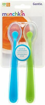 Munchkin Silicone Spoons, 2 Spoons Blue  & Green