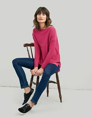 Joules Womens Lilly Boat Neck Sweater 10 in Deep Fuchsia Size 10