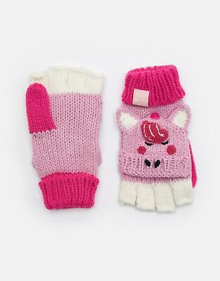 Joules Girls Chummy Character Mittens in PINK HORSE Size 4yrin7yr