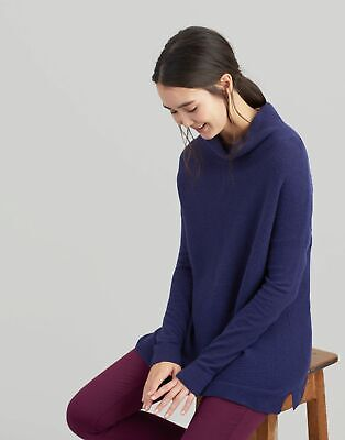 Joules Womens Euginia Roll Neck Jumper in FRENCH NAVY Size 10