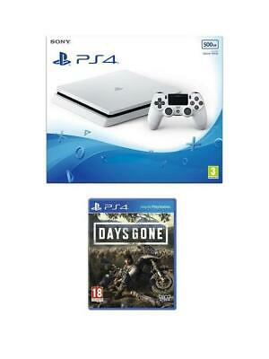Sony PS4 500GB White Console + Days Gone Bundle-New Unopened