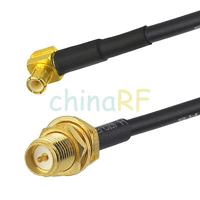 For wireless MCX male RA to RP-SMA Female jack Socket pigtail cable RG174 15cm