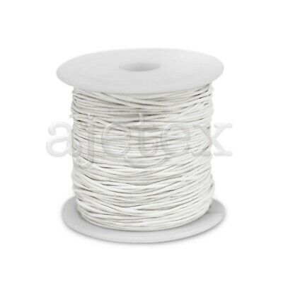 1 Roll 80M Waxed Cotton Cord Jewellery Craft Beading Thread Thong 1x1mm White
