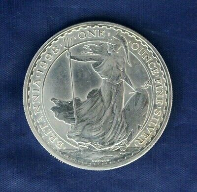 1998 Royal Mint 1oz Silver Britannia £2 coin
