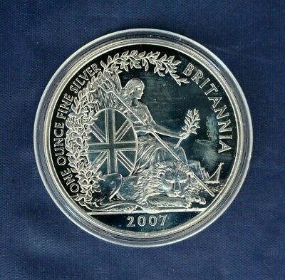 2007 Royal Mint 1oz Silver Britannia £2 coin
