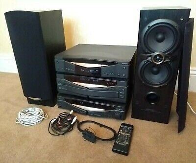 Kenwood Hi-Fi Separates System Speakers CD Player S-F100 D-R350 R-A150 X-S300