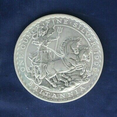 1999 Royal Mint 1oz Silver Britannia £2 coin